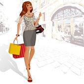Beauty is on the street3 — Stock Vector