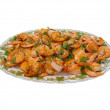 Plate with prawns — Stock Photo #25463553