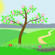 Royalty-Free Stock Imagen vectorial: Blossoming tree