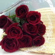 Stock Photo: Red rose bouquet