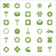 Set of 30  green icons and graphics — 图库矢量图片