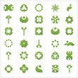 Set of 30  green icons and graphics — ベクター素材ストック
