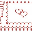 Set of Valentine's day ribbons — Grafika wektorowa