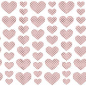 Pink hearts - seamless pattern — Stock Vector