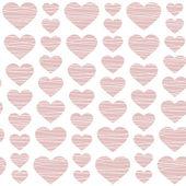 粉色心-无缝模式 — 图库矢量图片