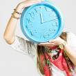 Girl with clock — Stock Photo #26896525