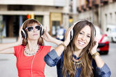 With headphones — Fotografia Stock