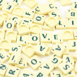 Love concept scrabble letters — Stock Photo