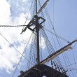 Mast of old sailing ship — Stock Photo