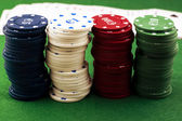Poker coins — Stockfoto