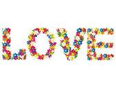 Love words — Stock Vector