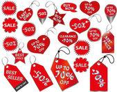 Fiyat etiketleri — Stok Vektör