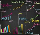 Croissance des bénéfices — Vecteur