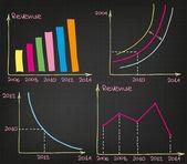 Gráficos de lucro — Vetorial Stock