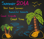 Summer 2014 — Stock Vector