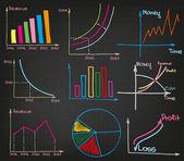 Profit  Charts — Stock Vector