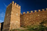 Ancient Genoese fortress in Sudak Ukraine — Stock Photo