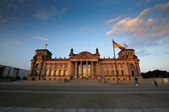 Scenic view on Reichstag in the evening — Stock Photo