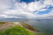 Beautiful landscape coastline of Munkholmen, Trondheim, Norway — Stock Photo