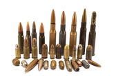 Bullets and cartridges — Stock Photo