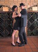 Tango in wine cellar — Stock Photo