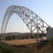 Stock Photo: Arch steel bridge