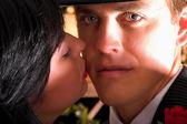 Lover's kiss — Foto de Stock
