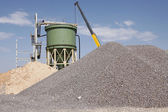Industrial mining plant under cosntruction — Stock Photo