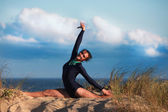 Acrobatic gymnast — Stockfoto