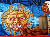 Street Art - Argentine Sun — Stock Photo
