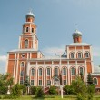 Orthodox church on sunny day in Volzhsk — Stok Fotoğraf #27697417