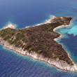 Aerial view of small island - Stock Photo