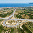 Highway junction, aerial view — Foto Stock