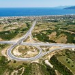 Stock Photo: Highway junction, aerial view