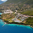 Resorts at east Lefkas, Greece, aerial view. — Stock Photo