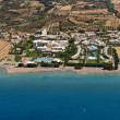 Resorts in Rhodes, Greece, aerial view — Stock Photo