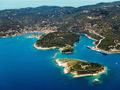 Gaios, Paxos island, Greece, aerial view — Stock Photo