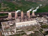 Power plant aerial view — Stock Photo