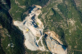 Stone quarry, aerial view. — Stock Photo