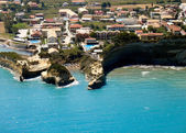 """Canal d'amour"" Sidari Corfu, aerial view — Stock Photo"