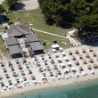 Aerial view of beach bar. — Stock Photo
