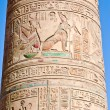 Ancient Egyptian column — Stock Photo