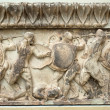 Stock Photo: Ancient battle. Carved in marble. 3rd century BC