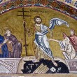 Resurrection of Jesus, 11th century mosaic, Greece — Stock Photo