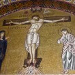 Crucifixion of Jesus, 11th century mosaic, Greece. — Stock Photo #24264263