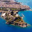 Old fortress of Corfu town, aerial view — Stock Photo