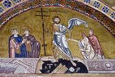 Resurrection of Jesus, 11th century mosaic, Greece — Stock Photo