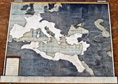 Roman Empire map in marble, Italy — Stock Photo