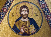 Jesus Christ mosaic, 11th century, Greece — Stock Photo