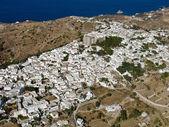 Chora, Patmos island, Greece, aerial view — Stock Photo